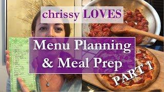 Part 1 | menu planning & meal prep healthy lifestyle
