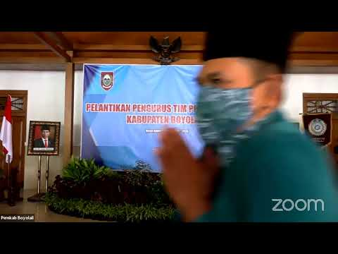 Pelantikan Pengurus TP PKK Kabupaten Boyolali
