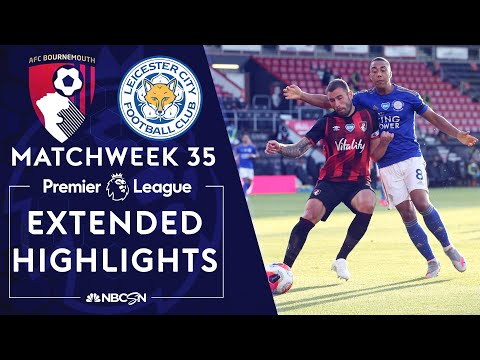 Bournemouth v. Leicester City | PREMIER LEAGUE HIGHLIGHTS | 7/12/2020 | NBC Sports