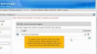 كيفية إنشاء قاعدة بيانات MSSQL في H-Sphere