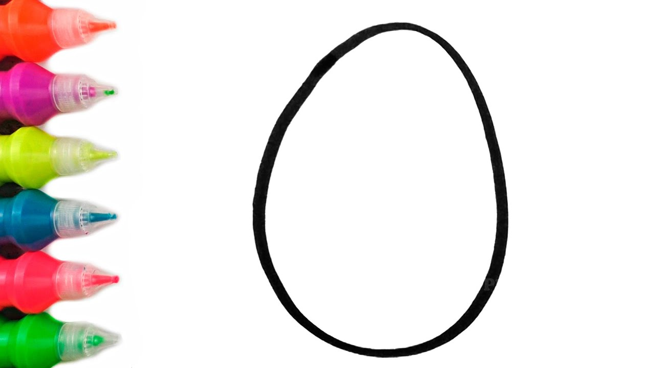How to draw glitter Easter eggs   Easter eggs Drawing for Kids   Easter eggs Coloring Pages for Kids