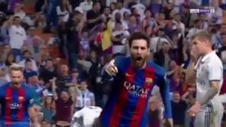 Madrid - Barcelona 2-3 Segundo gol de Leo Messi ESPAÑOL BEIN SPORT CLASICO