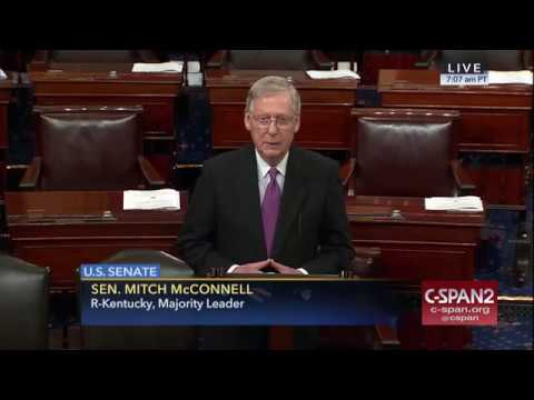 Majority Leader McConnell Welcomes Senator Luther Strange