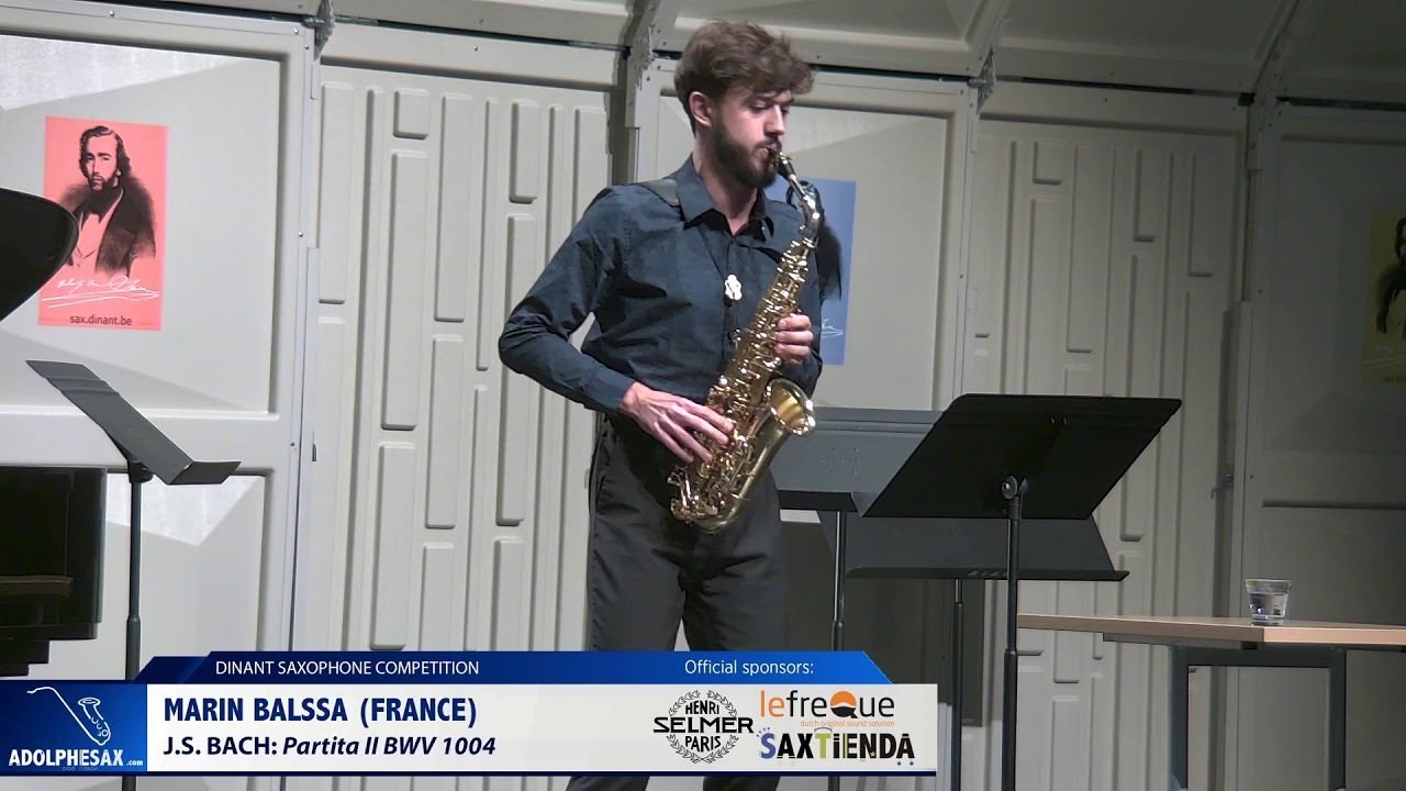 Marin Balssa (France) - Partita II by J S Bach (Dinant 2019)