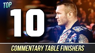 Countdown to WWE 2K17 - Top 10 Commentary Table Finishers in WWE 2K16!