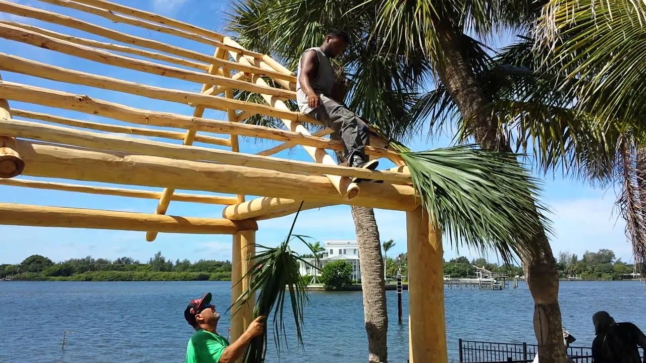 Building the tiki hut YouTube