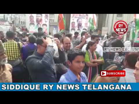 WALK FOR12% RESERVATION FOR MUSLIMS WAS ORGANISED BY MINORITY DEPT OF TELANGANA