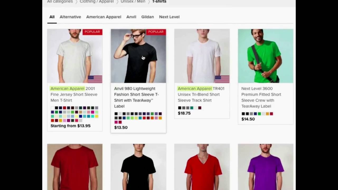 How To Sell T Shirts On Shopify Youtube