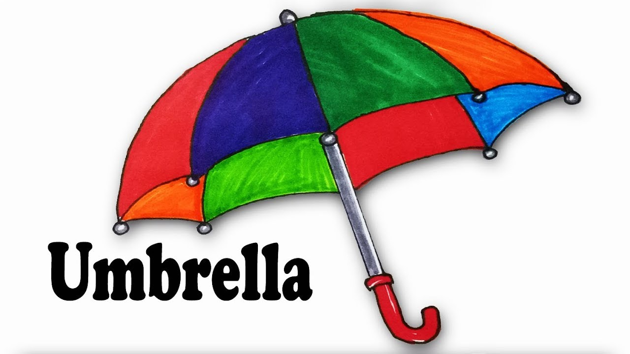 How To Draw An Umbrella Step By Step Easy Draw Youtube