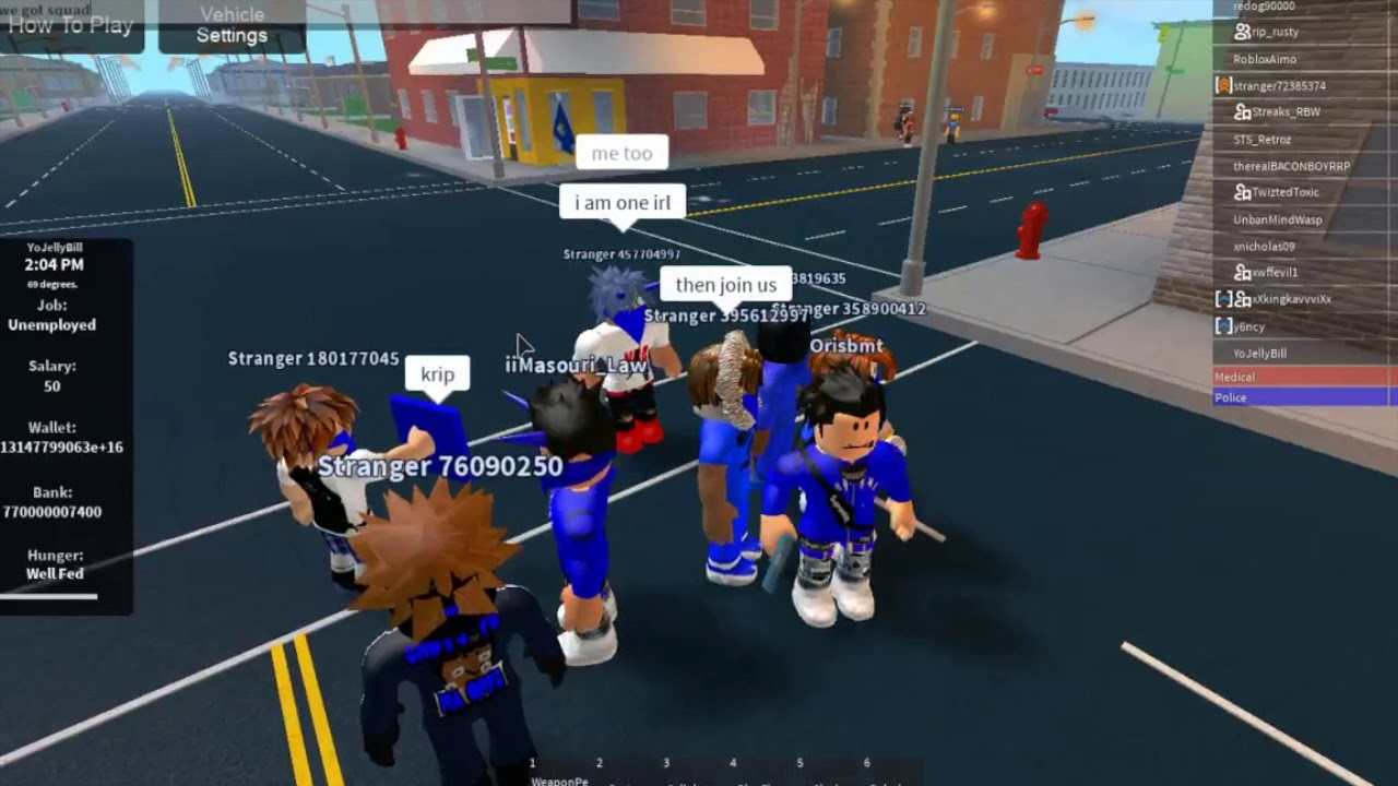 Pretending To Be A Crip Roblox Realistic Roleplay 2 Youtube