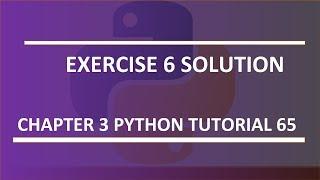Exercise 6 solution : Python tutorial 65