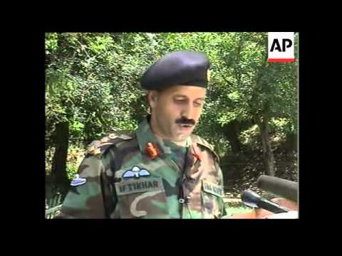Soldiers and bunkers on Pakistani side of LoC