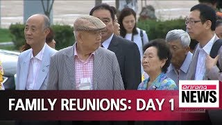 Group reunions of two Koreas' war-torn families begin