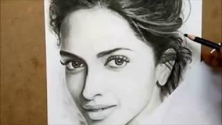Deepika Padukone Drawing with Nainowale Ne Song Cover | Bengal Art Trick