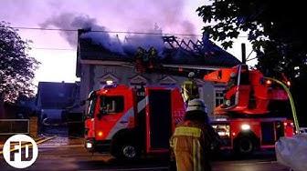 Berliner Feuerwehr - Feuer Dach - Mahlsdorf - Hultschiner Damm