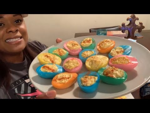 How to make Suprise Deviled eggs for Easter