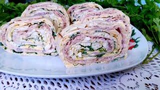 Салат Мимоза в лаваше/ Шикарная закуска на праздничный стол