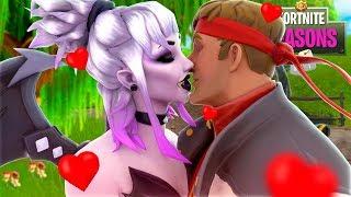 Vampire Dusk's KISS makes Dire FALL IN LOVE!! Fortnite Season 6 Short Film