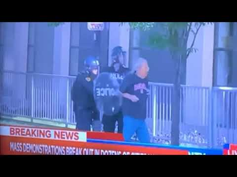 Salt Lake City Police Officers Caught On Camera Pushing Elderly Man With Cane To The Ground
