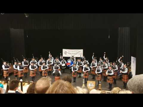 Simon Fraser University Pipe Band. BC Pipers indoor competition April 2017. MSR.