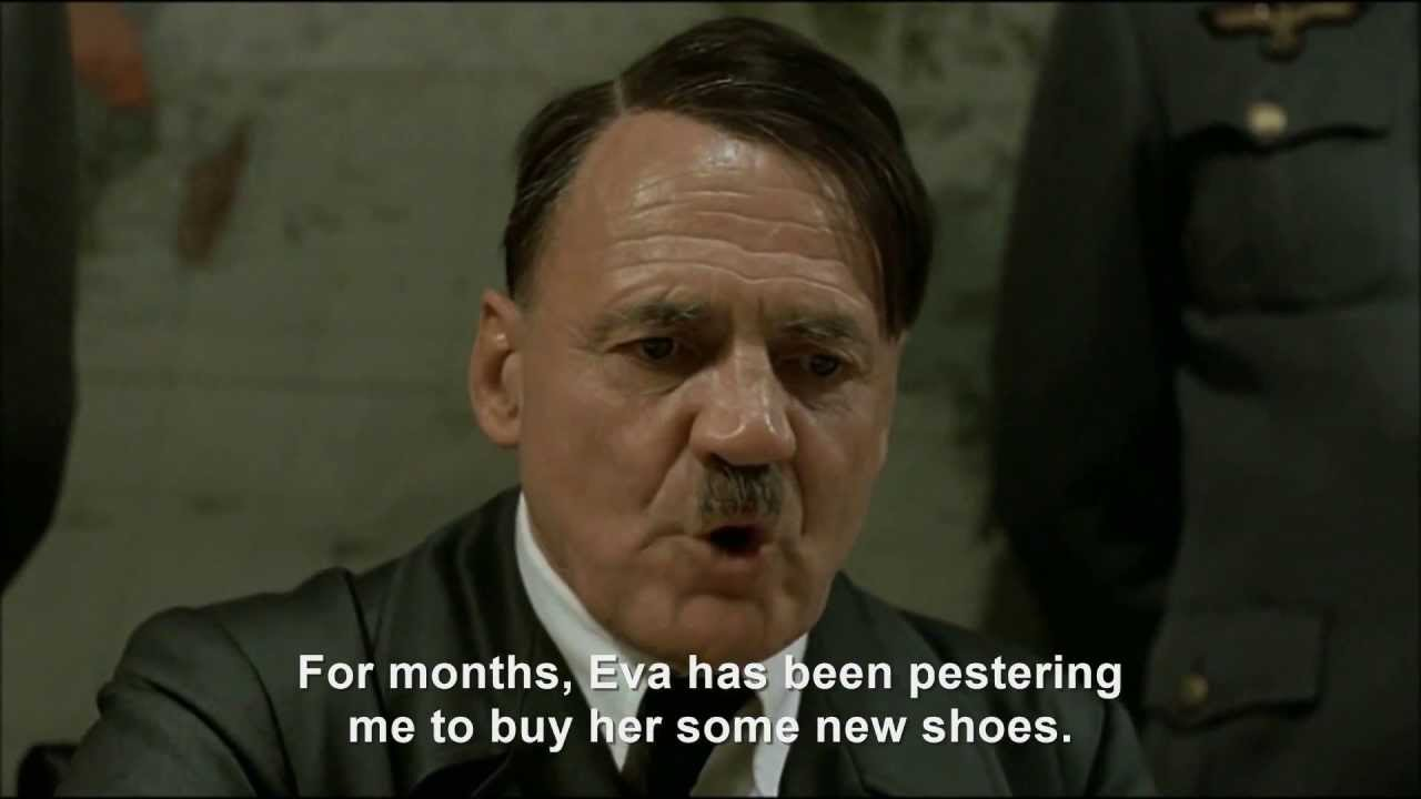 Hitler plans to buy Eva some new shoes