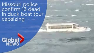 Duck boat accident: Missouri police confirm 13 dead