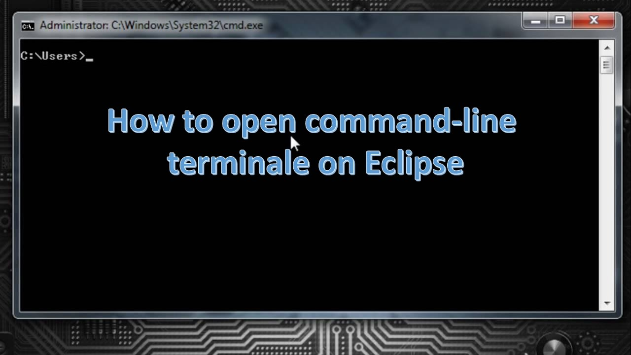 How to open Terminal inside Eclipse