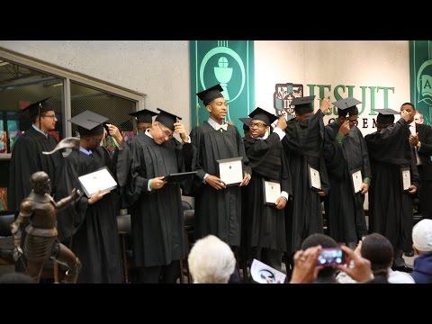 Lil bro Carl Brown's Jesuit Academy Graduation Ceremony