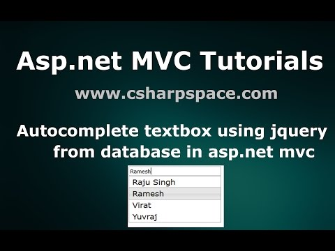 Autocomplete textbox using jquery from database in asp.net mvc