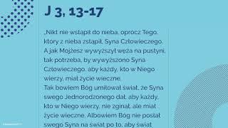 #Ewangelia | 14 września 2018 | (J 3, 13-17)