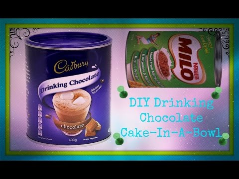 DIY Drinking Chocolate Cake-In-A-Bowl