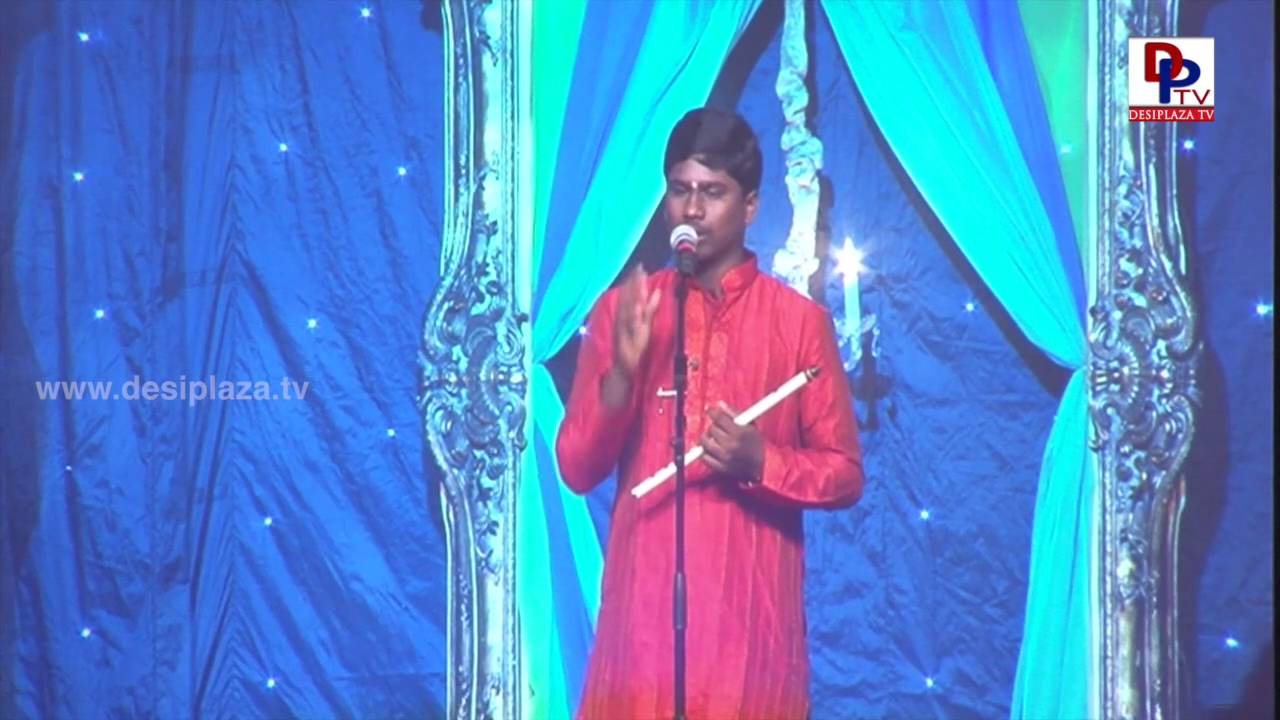 Sai Hemanth palying flute from Nose at NATA Convention Banquet 2016