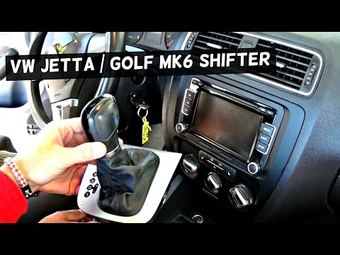 VW JETTA MK6 SHIFTER REMOVAL REPLACEMENT SHIFTING KNOB GOLF MK6