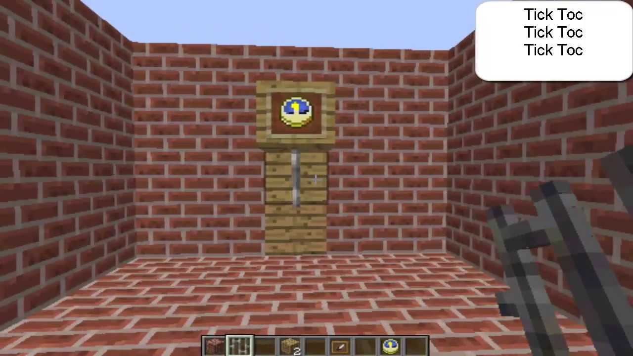 How To Make A Grandfather Clock Minecraft Furniture Idea 14 Hd Youtube