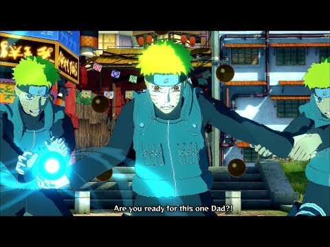 Jonin Naruto Uzumaki True Rasengan Vs Father Minato - Naruto Ultimate Ninja Storm 4 Road To Boruto