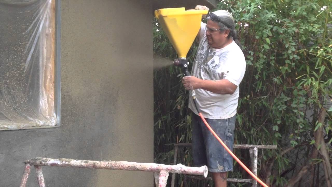 Stucco Sprayer Ez Tex Sprayall Youtube