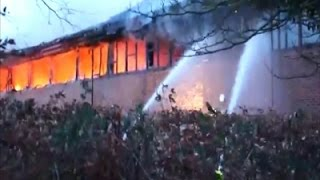 Raw: Suspected Arson Attacks in England