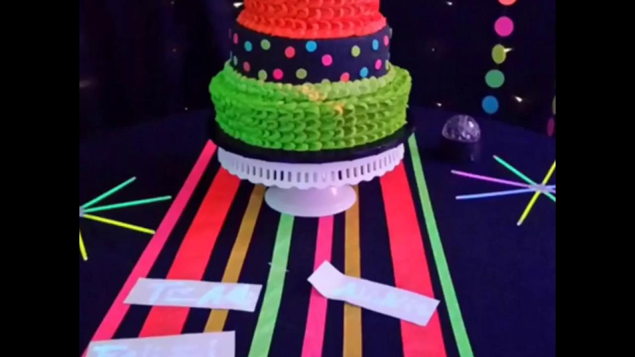 Ideas para un neon paint party decoraci n por creando - Ideas para decoracion ...