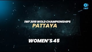 Top 5 Lifts - 45KG (Women) | 2019 IWF World Championships, Pattaya, Thailand