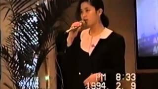 鑑真号 1994年2月 春節 横浜〜上海、船員のカラオケ.