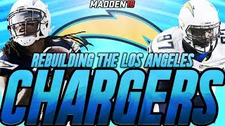 Madden 18 Connected Franchise | Rebuilding The Los Angeles Chargers | The Watt Family 2017 Video