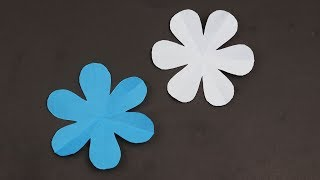 How to Make Easy 🌸 6 Petal Paper Flowers 🌸 - DIY | A Very Simple Paper Flower for Beginners Making