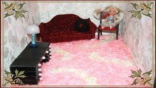 Как сделать ворсовой ковер для кукол . How to do a nap carpet for dolls