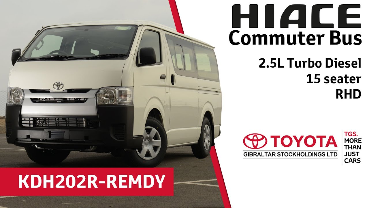 Toyota Hiace Commuter Bus - 2.5 Turbo Diesel - 15 seater ...