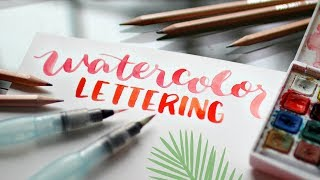 Video Water brush Lettering Tutorial: How-to Hand Letter with Watercolors download MP3, 3GP, MP4, WEBM, AVI, FLV Agustus 2018
