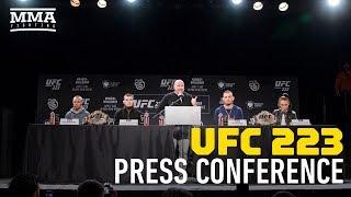 UFC 223: Nurmagomedov vs. Holloway Press Conference - MMA Fighting