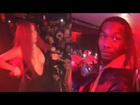 Cardi B performs with Offset by her side after shutting down IG account