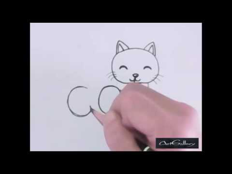 how to make word cat in cat cartoon