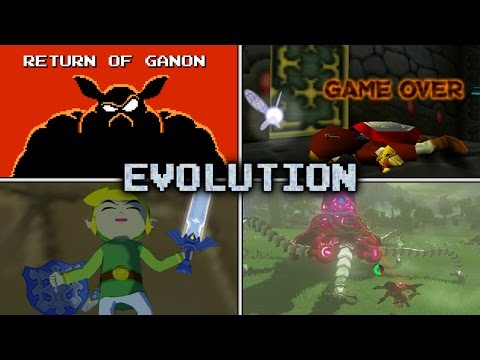 Evolution of Link's Deaths and Game Over Screens (1986 - 2017)