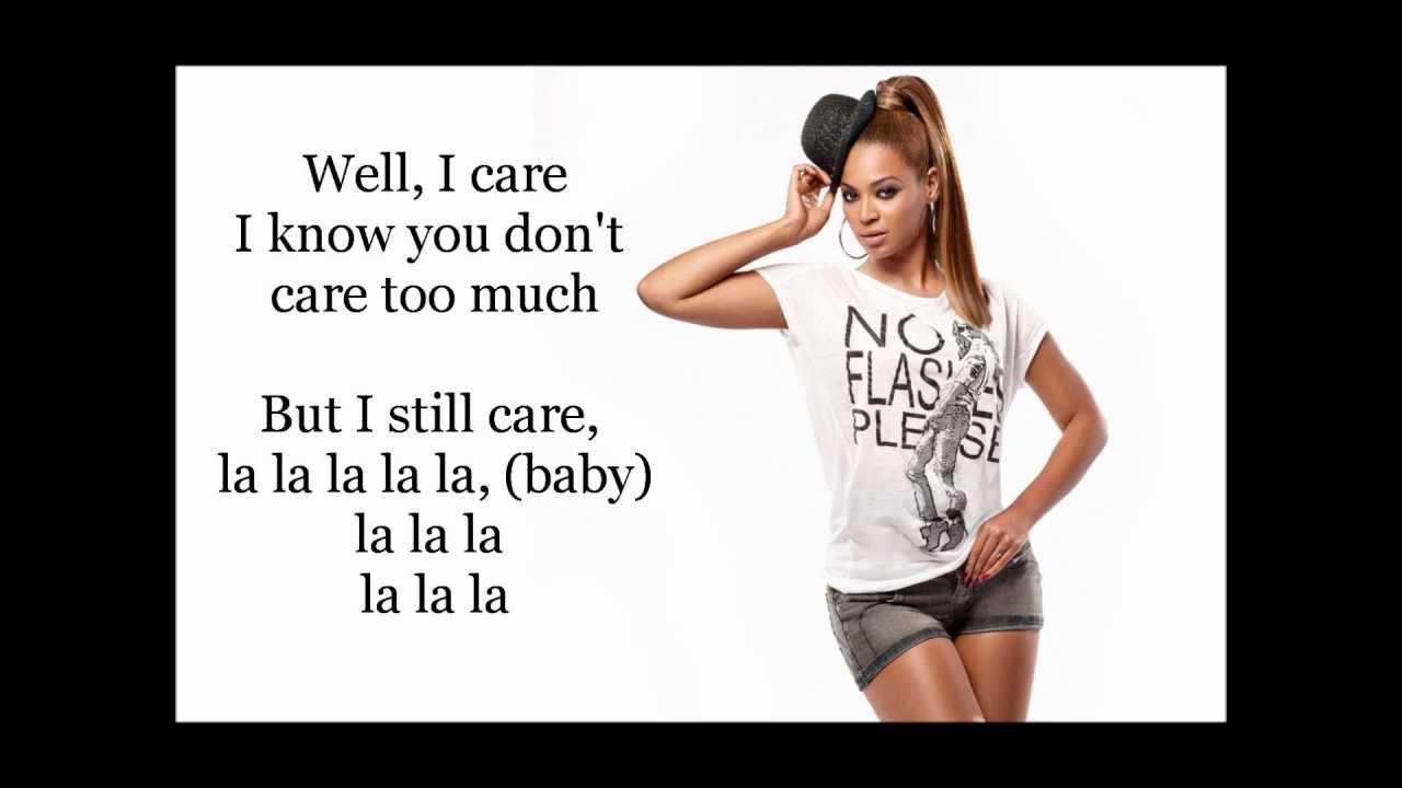I Care Beyonce Lyrics Video - YouTube